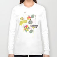 lotus Long Sleeve T-shirts featuring Lotus by Ferntree Studio