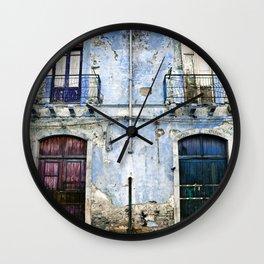 BLUE FACADE of SICILY Wall Clock
