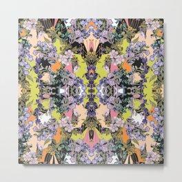 Purple Winter Bloom Metal Print