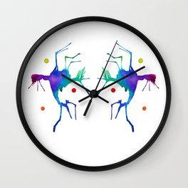 Dueling Jesters Wall Clock