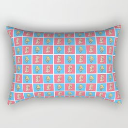 Nina Flowers Pattern Rectangular Pillow