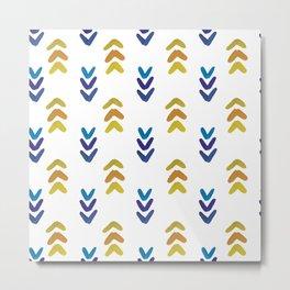 Blue and Yellow Arrowheads Metal Print