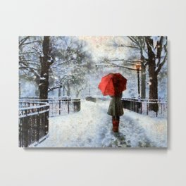 snow wool and cotton Metal Print