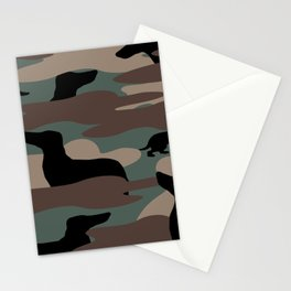 Camo Weiner Dogg Stationery Cards