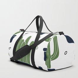 Cactus Plants Pattern- Green Duffle Bag