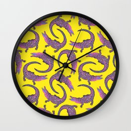 Crocodiles (Pop Art Palette) Wall Clock