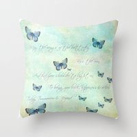 butterflies Throw Pillows featuring Butterflies by secretgardenphotography [Nicola]