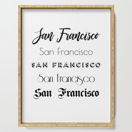 San Francisco City Quote Sign, Digital Download, Calligraphy Text Art, Large Printable Photography Serving Tray
