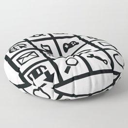Web Icons Floor Pillow