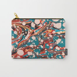 Vintage Watercolor Abstract Summer Paradise Burst Carry-All Pouch