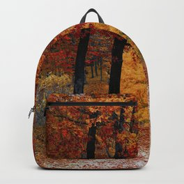 Red Autumn Backpack