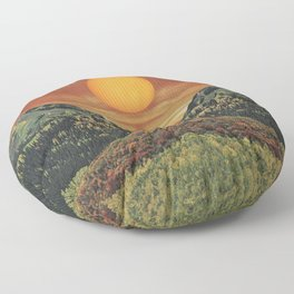 Sunset vibes Floor Pillow