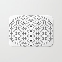 Flower of Life : sacred geometry Bath Mat