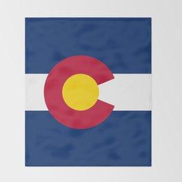Colorado State Flag Throw Blanket