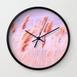 Pink Field Wall Clock