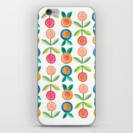 Water colour flowers iPhone Skin