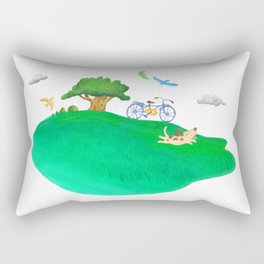 rest in the meadow Rectangular Pillow