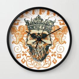 King skull Wall Clock