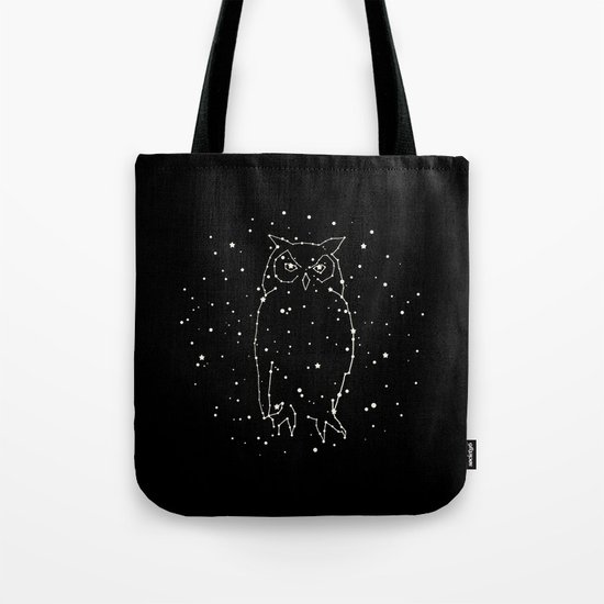 Owl Constellation  Tote Bag