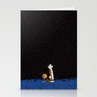calvin and hobbes Stationery Cards featuring Calvin & Hobbes by rarcomeus