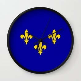 Ile de France country region flag Wall Clock