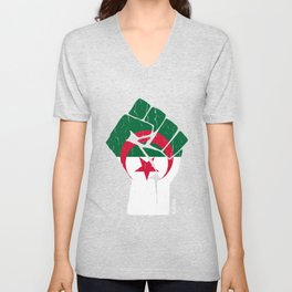 Team Algeria Flag T-Shirt Unisex V-Neck