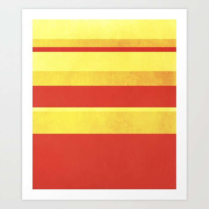 Red And Gold Lines Art Print By Mkgrandison Society6