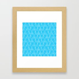 Triangles- Simple Triangle Pattern for hot summer days - Mix & Match Framed Art Print