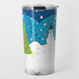 Snowman Heart Travel Mug
