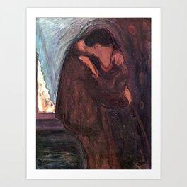 The Kiss Edvard Munch Painting Art Print