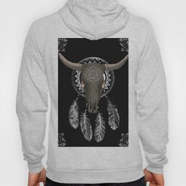 Buffalo skull dream catcher Hoody