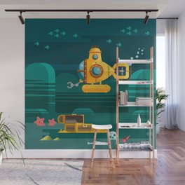 Somewhere under the sea Wall Mural