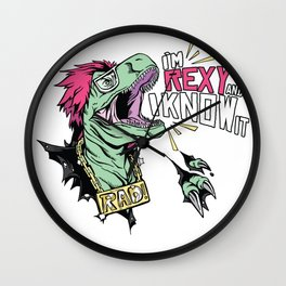 Roxy Dino Wall Clock