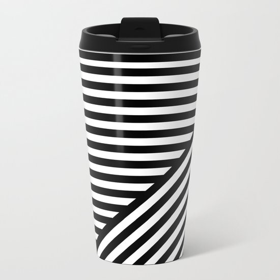 Stripes I Metal Travel Mug