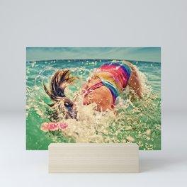 Into the sea Mini Art Print