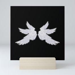 White Archangel Wings Mini Art Print