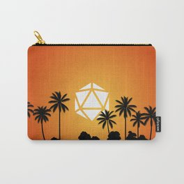 Tropical Sunset Coconuts D20 Dice Tabletop RPG Landscape Carry-All Pouch