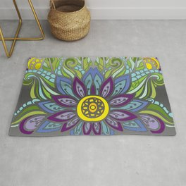 Peaceful Flower Rug
