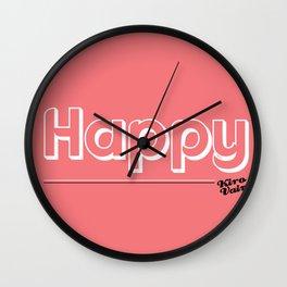 Happy #kirovair #minimal #minimalism #buyart #design Wall Clock