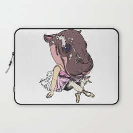 Ballerina Hippo Laptop Sleeve