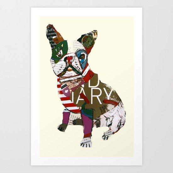 boston bull Art Print