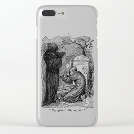 A Christmas Carol Charles Dickens Death and Scrooge Clear iPhone Case
