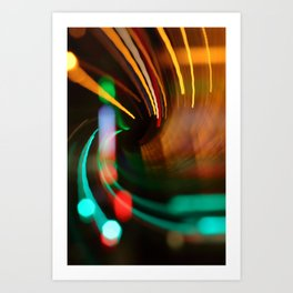 City Circulation (Bokeh ICM Exposure), River Liffey, Dublin Art Print