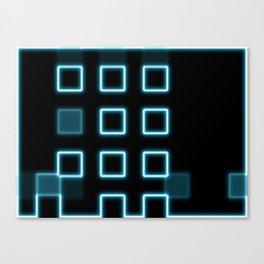 Neon Cube City Canvas Print