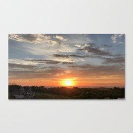 Sunset Fractate Canvas Print