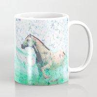 sea horse Mugs featuring horse by batik shop