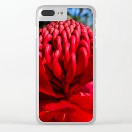 Waratah Clear iPhone Case