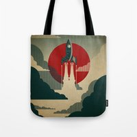 abstract art Tote Bags featuring The Voyage by Danny Haas