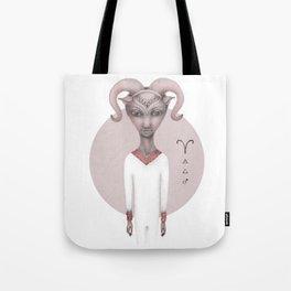 aries astro portrait Tote Bag