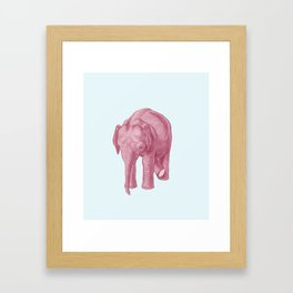 Pink elephants and the emperor of icecream Framed Art Print